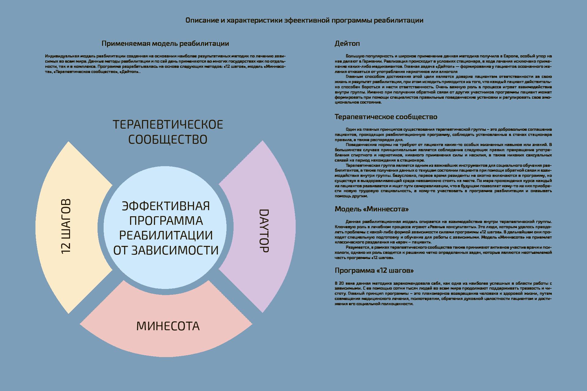 Описание и характеристика моделей реабилитации зависимых
